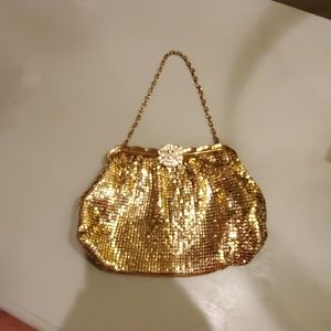Vintage Evening Gold Mesh Clutch
